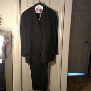 Men's Joseph Abboud Black Men's Suit 52L